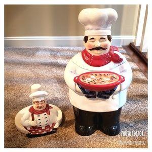 ♡ Pizza Chef Cookie Jar & Paper Towel Holder♡